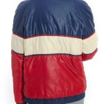 Vintage Tricolor Unisex Puffer Jacket For Womens