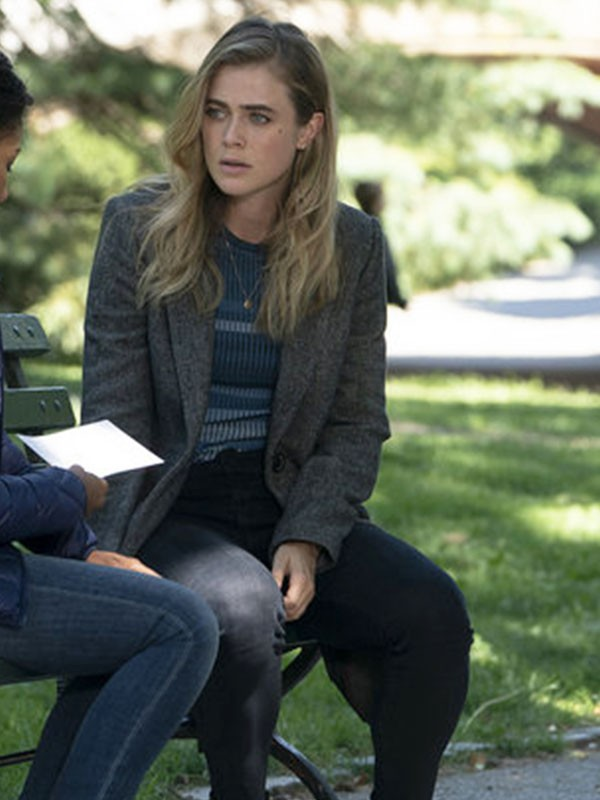 Wool Trench Coat worn by Michaela Stone in Tv Series Manifest
