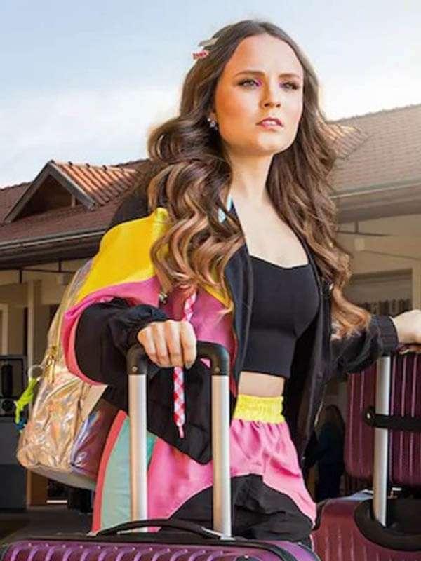Airplane Mode Tricolor Parchaute Larissa Manoela Hooded Jacket