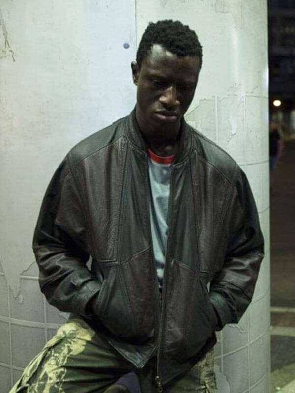 Berlin Alexanderplatz Welket Bungué Brown Leather Jacket