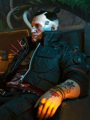 Video Game Cyberpunk 2077 Black Bomber Jacket