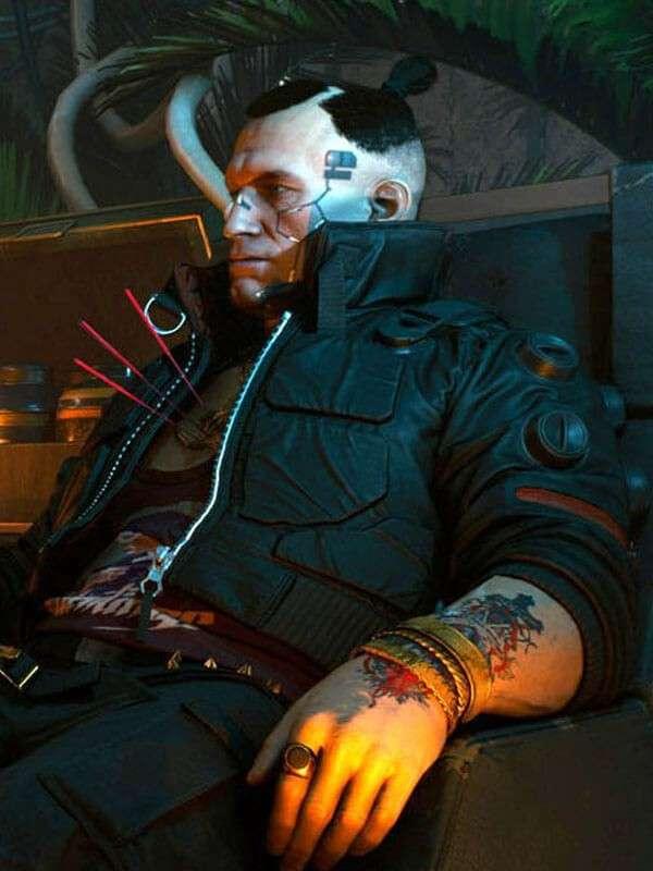 Black Bomber Jacket worn by Jackie Welles in Video Game Cyberpunk 2077