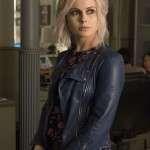 Blue Leather Jacket Worn by Olivia Moore in Tv Series iZombie