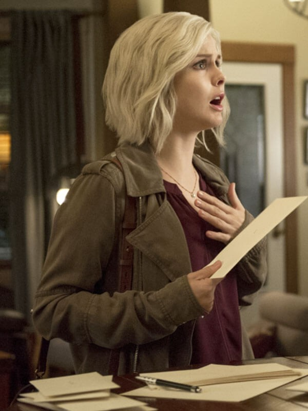 Brown Cotton Jacket worn by Rose McIver in Tv Series iZombie
