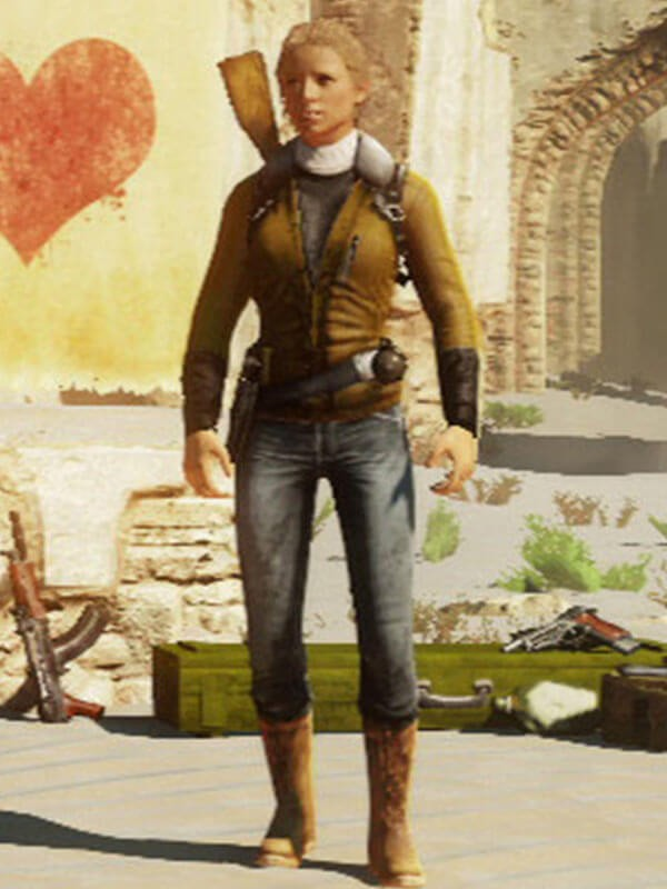 Brown Leather Jacket worn by Elena Fisher in Uncharted 3 Game