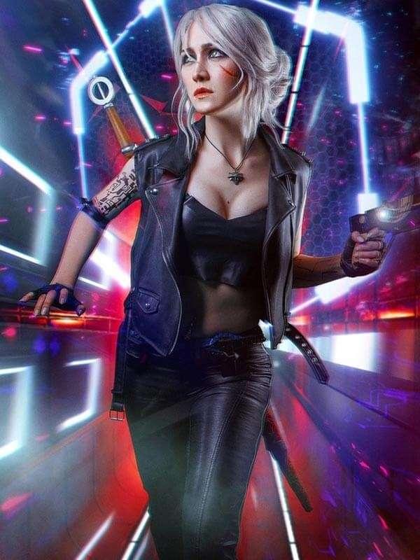 Ciri Cyberpunk 2077 Videogame Leather Vest