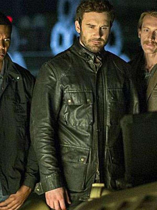 Clive Standen Taken Leather Jacket for Mens