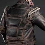 Cyberpunk 2077 Game Simon Royce Distressed Leather Jacket