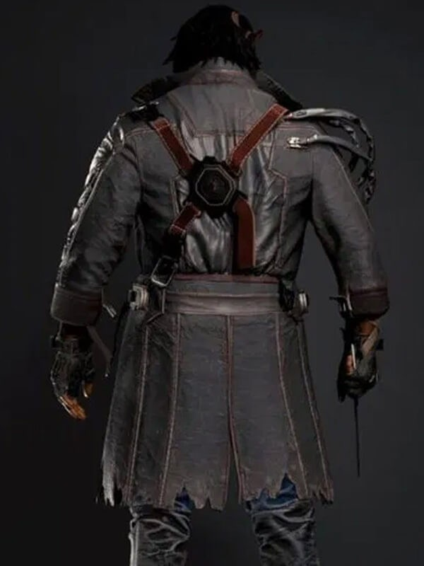 Cyberpunk 2077 Placide Brown Leather Coat
