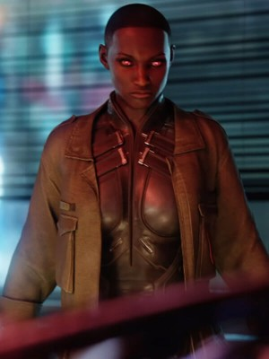 Brown Leather Jacket worn by T-Bug in Video Game Cyberpunk