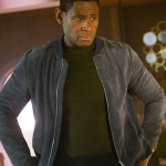 David Harewood Supergirl Bomber Suede Leather Jacket