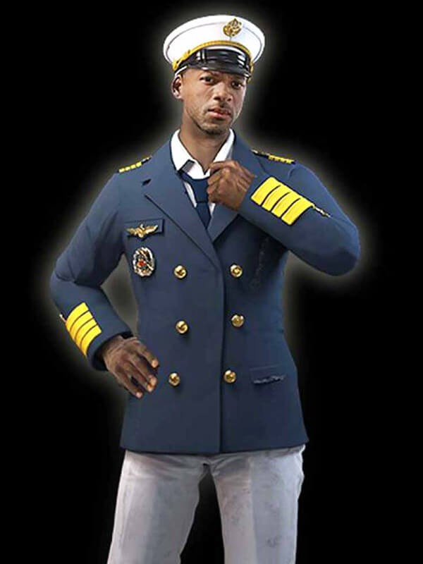 Double Breasted Coat worn by Ford in Game Free Fire