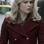 Double Breasted Wool Jacket worn by Rose McIver in Tv Series iZombie