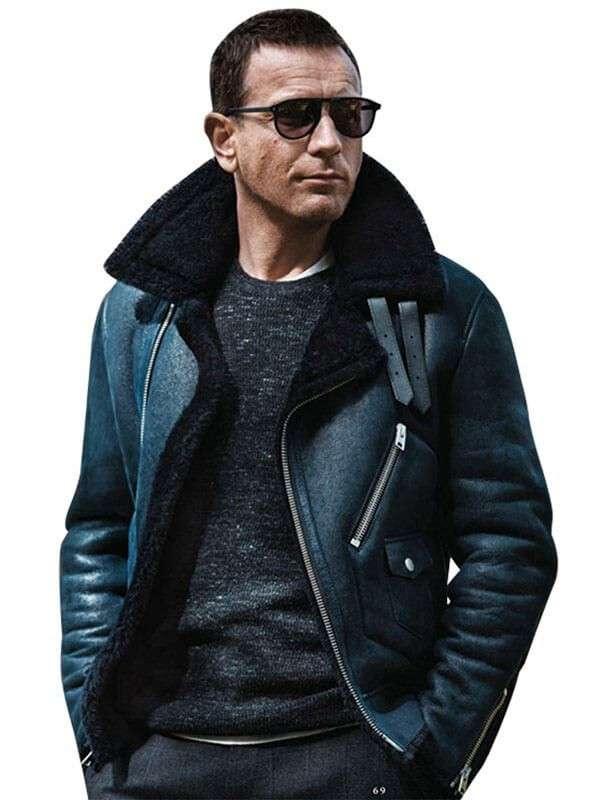 Ewan Mcgregor Fur Collar Leather Jacket