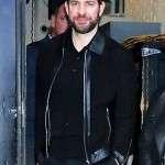 GMA John Krasinski Black Leather Jacket