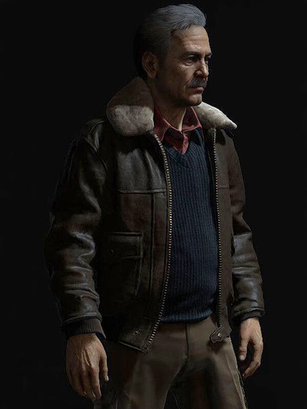 Game Uncharted 4 Victor Sullivan Brown Leather Jacket