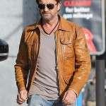 Gerard Butler Brown Leather Jacket