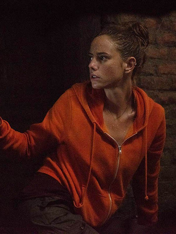 Haley Crawl Kaya Scodelario Orange Hoodie