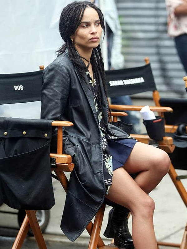 High Fidelity Robyn 'Rob' Brooks Zoe Kravitz Black Leather Coat
