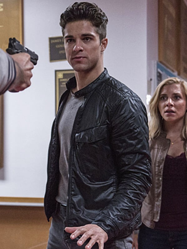 Jordan TV Series iZombie Markian Tarasiuk Black Leather Jacket