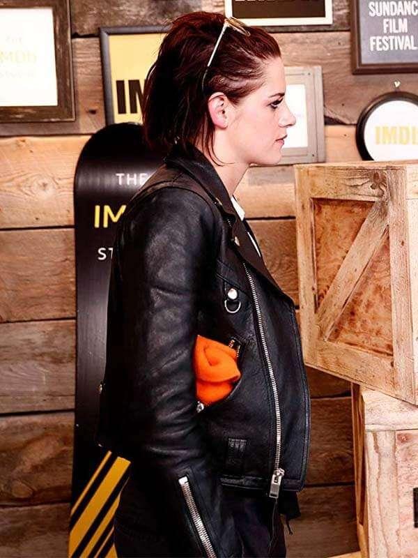 Kristen Stewart Black Leather Jacket