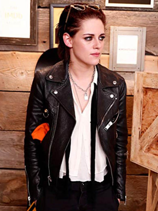 Kristen Stewart Leather Jacket for Womens
