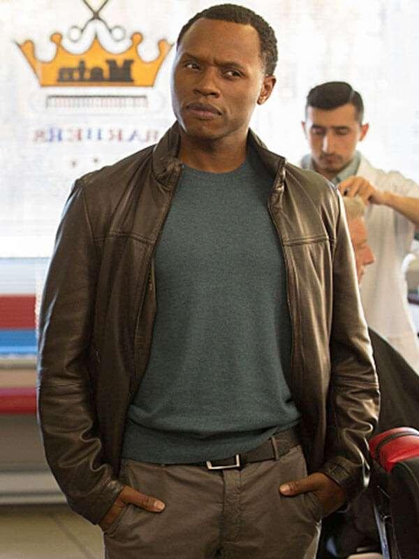 Leather Jacket Malcolm Goodwin Worn in Tv Series iZombie