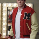Letterman Bomber Jacket worn by Cory Monteith in Tv Show Glee The Break Up