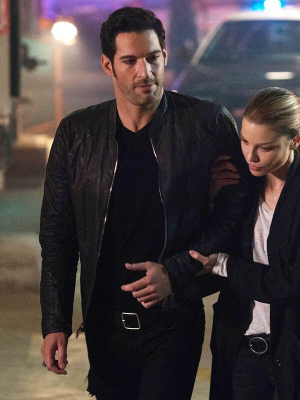 Lucifer Morningstar Tom Ellis Black Jacket