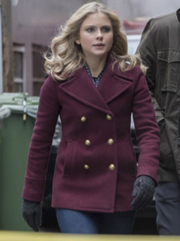 Olivia Moore Tv Series iZombie Double Breasted Wool Pea Coat