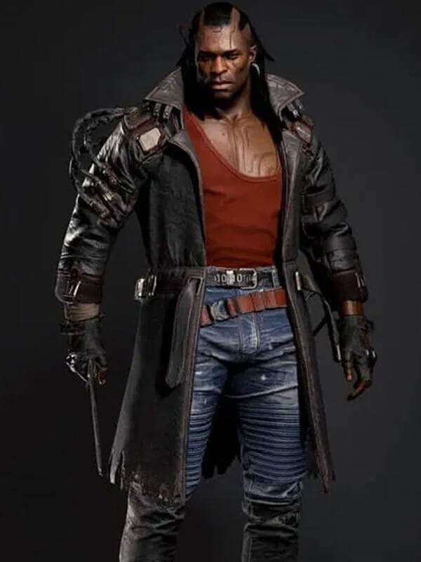 Placide Videogame Cyberpunk 2077 Trench Leather Coat