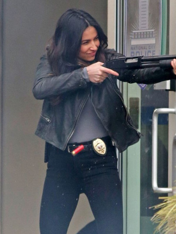 Quilted Biker Jacket Worn by Floriana Lima in Tv Series Supergirl