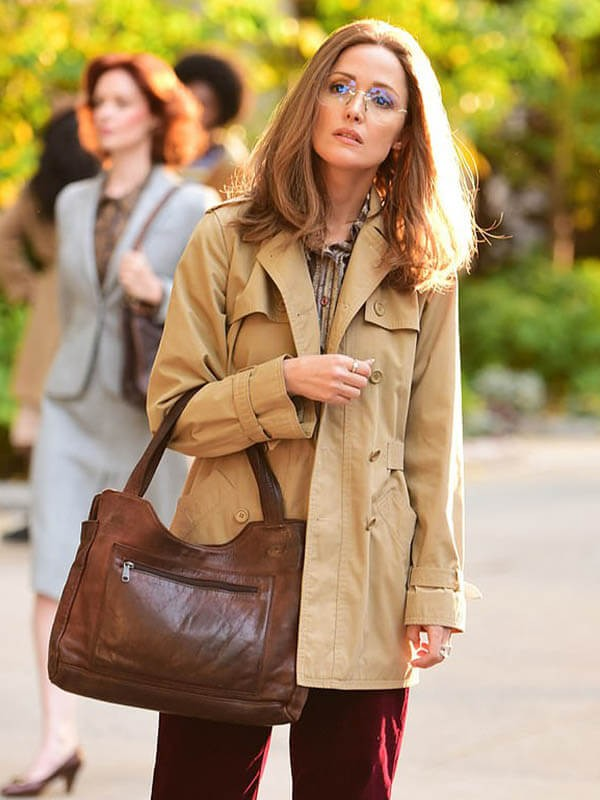 Rose Byrne Mrs. America Trench Brown Cotton Coat