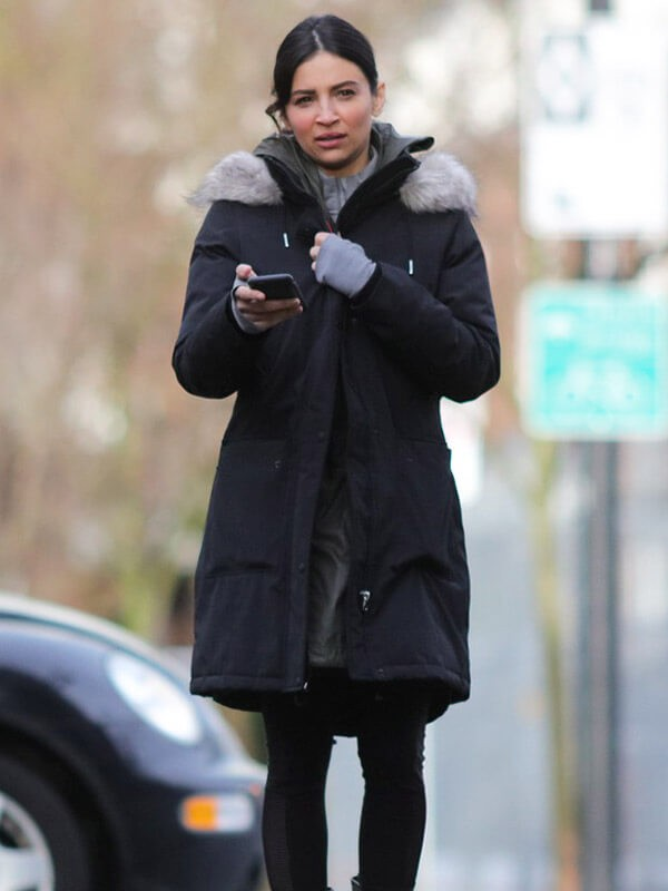 Shearling Cotton Trench Coat worn by Maggie Sawyer in TV Series Supergirl