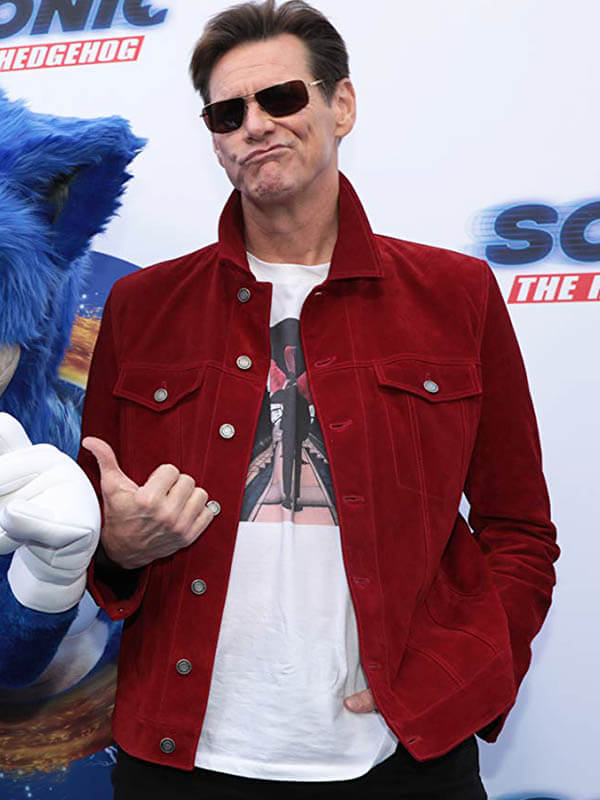 Sonic The Hedgehog Event Jim Carrey Jacket New American Jackets
