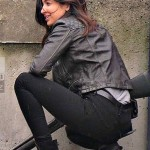 Supergirl Floriana Lima Quilted Black Motorcycle Leather Jacket