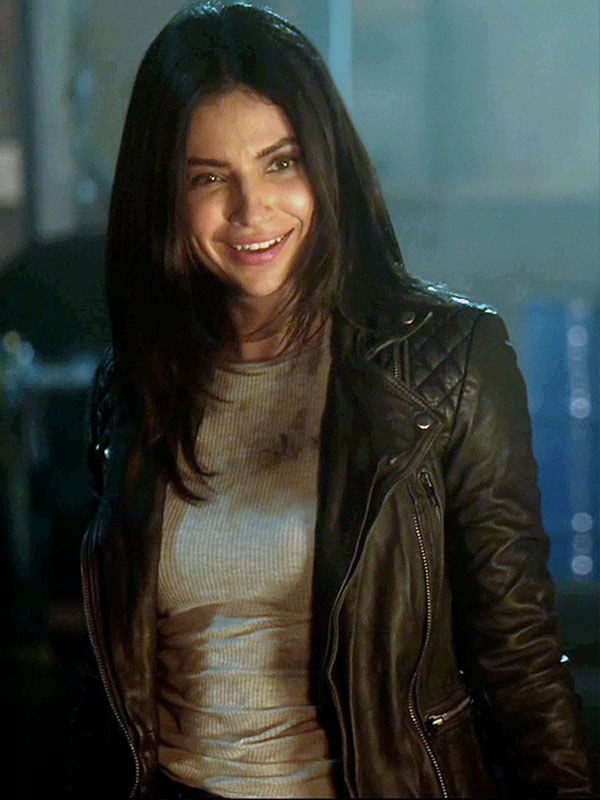 Supergirl Floriana Lima Quilted Motorcycle Leather Jacket