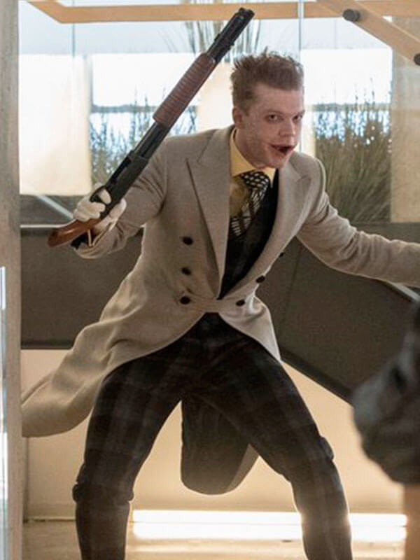TV Series Gotham Jerome Valeska Grey Trench Coat