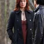 The Vampire Diaries Sage Black Wool Coat