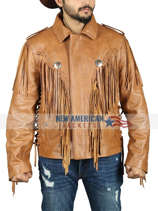 Tiger King Brown Leather Jacket