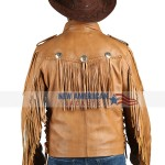 Tiger King Joe Exotic Cowboy Brown Fringe Jacket