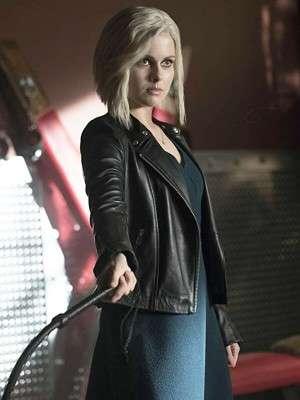 Black Leather Jacket Worn by Olivia Moore in Tv Series iZombie