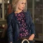 Tv Series iZombie Olivia Moore Blue Leather Jacket
