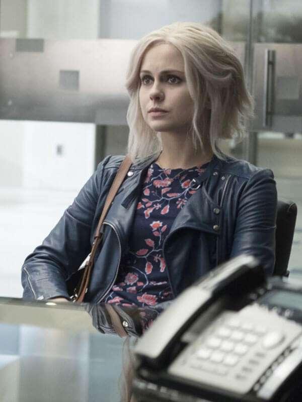 Tv Series iZombie Olivia Moore Slimfit Blue Leather Jacket