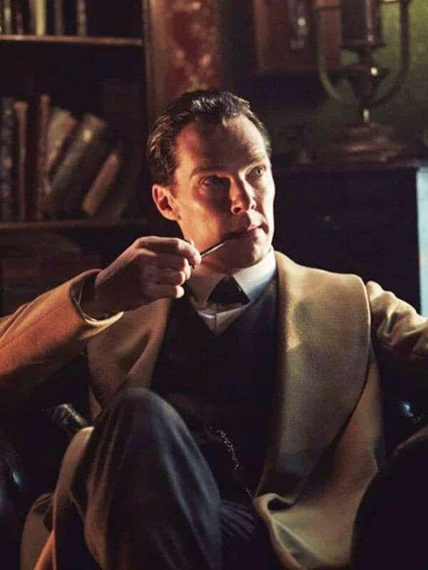 Wool Brown Coat Worn by Benedict Cumberbatch In Sherlock Holmes