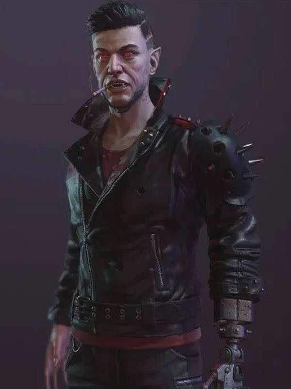 Zane Devon Video Game Cyberpunk 2077 Black Dracula Leather Jacket