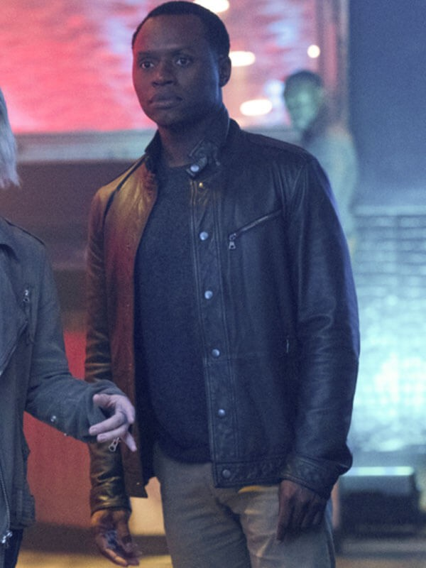 iZombie Malcolm Goodwin Brown Leather Jacket