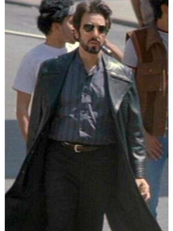 Carlitos Way Carlito Brigante Black Leather Coat