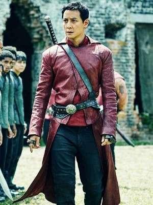Daniel Wu Into the Badlands Maroon Coat