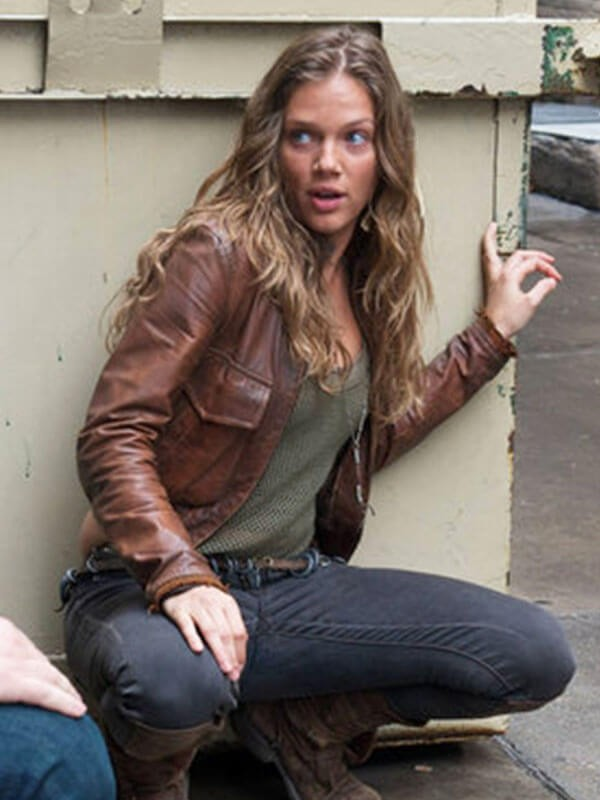 Revolution Tracy Spiridakos Brown Leather Jacket